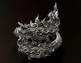 2 Heads Naga Ring 3D print model