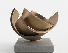 3D model Modern Decorative Abstract Copper Art Sculpture 1