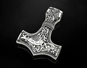 Hammer Torah pendant amulet 3D printable model