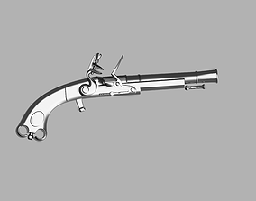 3D printable model Murdoch Scottish Flintlock Black 2