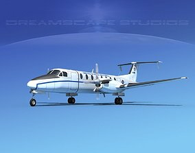 3D model Beechcraft C-12J Huron USAF