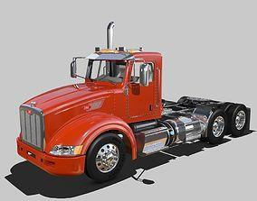 386 Day Cab Semi Truck 3D