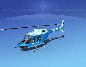 3D Bell 206 Policia