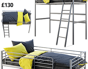 3D Ikea Svarta Loft bed
