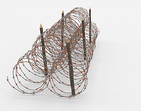 Barb Wire Obstacle architectural 3D model