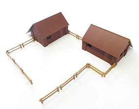 3D printable model miniatures FARMHOUSE