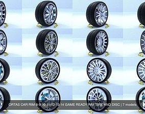 3D ORTAS CAR RIM 8-9-10-11-12-13-14 GAME READY RIM TIRE 1