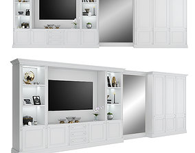 Tv cabinet with wardrobe by FC Shape 3D model