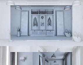 Hall 3D model hallway