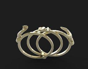 3D print model Antique gimmel ring