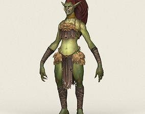 3D asset Game Ready Female Goblin
