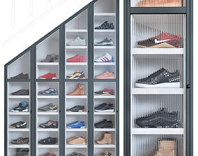 Shoe cabinet footwear 3D