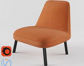 Mina lounger chair 3D model