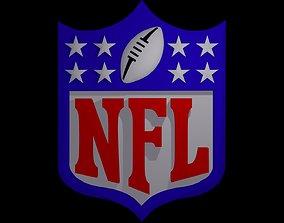 NFL-football logo 3D model