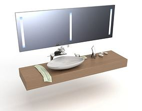 3D Modern Complete Bathroom Fixture Set