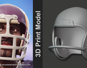 1960s Football Plastic Suspension 3D printable model