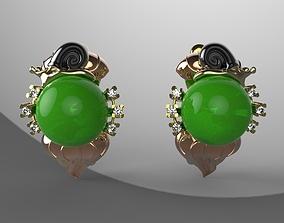 3D print model Snails Earrings