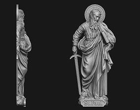 3D printable model Saint Paul Bas-Relief