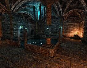 Elven Dungeon Ruins - Modular 3D model game-ready