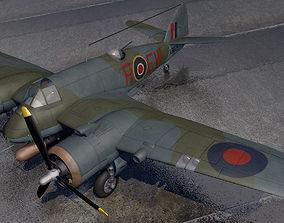 Bristol Beaufighter Mk-10 warplane 3D model