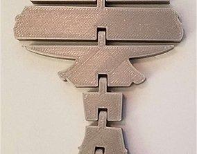3D printable model Articulated Mushroom Key chain