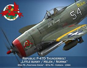 Republic P-47D Thunderbolt - Little Bunny 3D