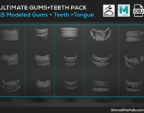 Ultimate Gums Teeth Tongue Model Pack 3D