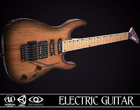 Electric Guitar Jackson Dinky Cherry 3D asset