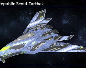 3D asset Spaceship Enkar Republic Scout Zarthak