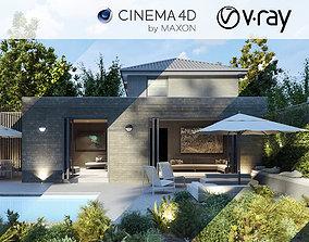 VRay - C4D Scene files - House Jackson 3D