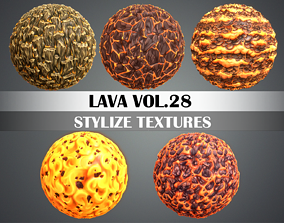 Stylized Lava Vol 28 - Hand Painted 3D model