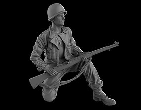 3D print model USA Soldier with rifle 1930 16