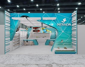 expo booth 3D model