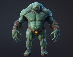 Monster green 3D asset game-ready