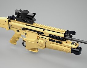 3D SCAR-H assault rifle