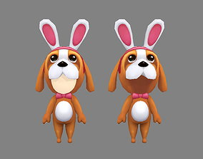 3D model Cartoon puppy doll costume