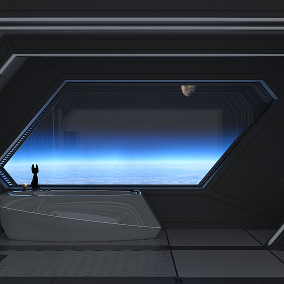 Spaceship Bathroom with a view