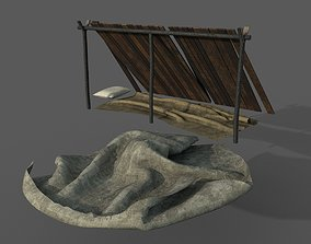 3D asset Bushcraft Shelter