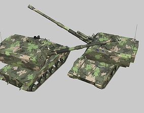3D asset Chinese Army Type 05 Self-propelled artillery