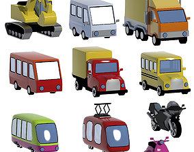 3D model Car set