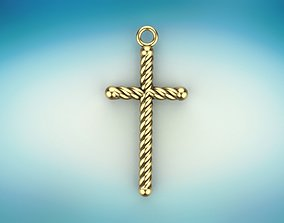3D print model Cross pendant with rope