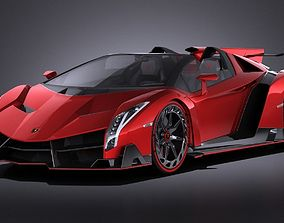 3D Lamborghini Veneo Roadster 2014 VRAY