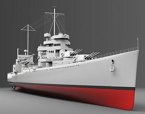 3D model Watercraft 2 - Heavy Cruiser Ship