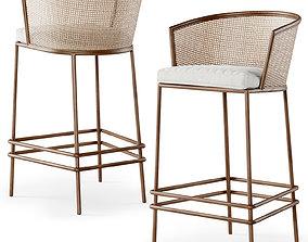 lounge Wooden bar stool BW45 3D