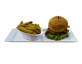 3D asset game-ready Burger