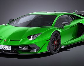 LowPoly Lamborghini Aventador SVJ 2019 3D asset
