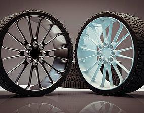 Car Tire 3D model car-rim