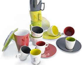 3D Colored Tableware Smoos