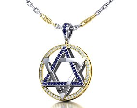 Jewish Star of David 30mm Pendant 3dmodel printable