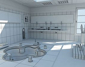 Modern Bath Room With Jacuzzi 3D model